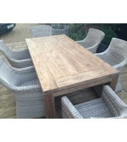 York 6 Chair Teak Table Set