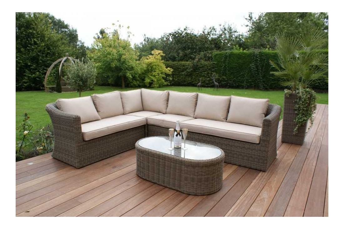 Winchester rattan garden furniture Large Corner Sofa Set
