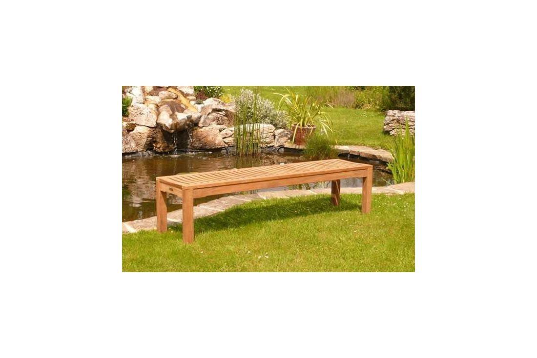 Teak Backless bench - 180cm