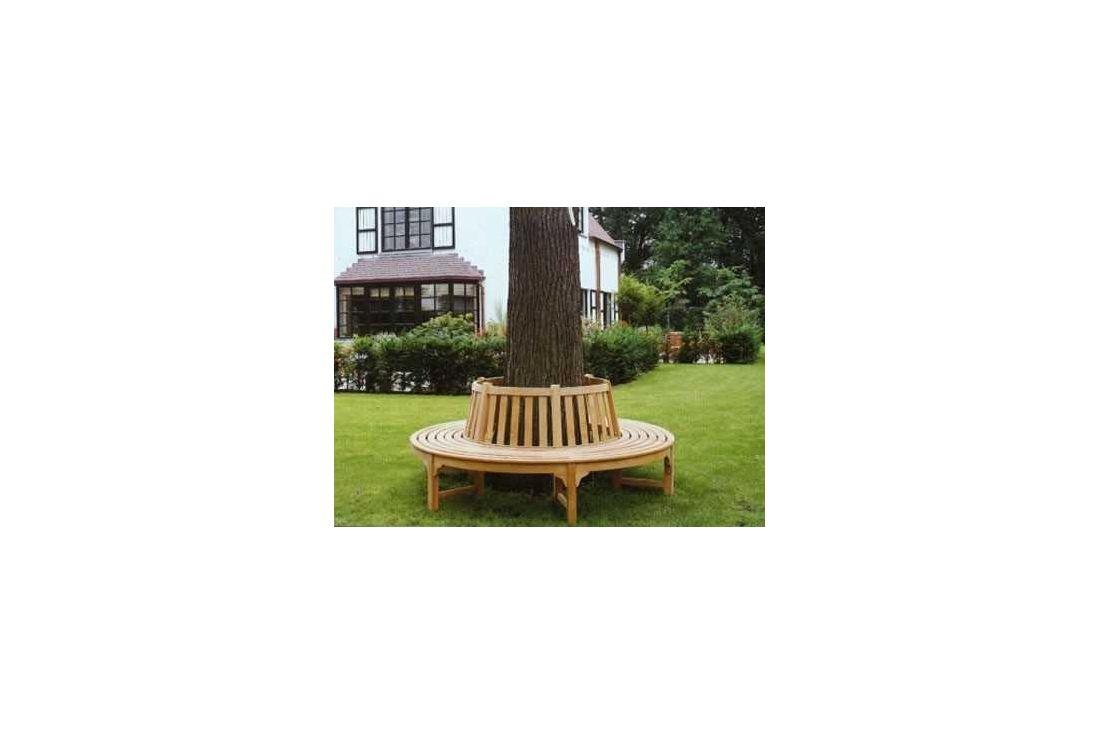 Contour tree teak bench