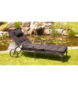 Tudor sun lounger with cushion