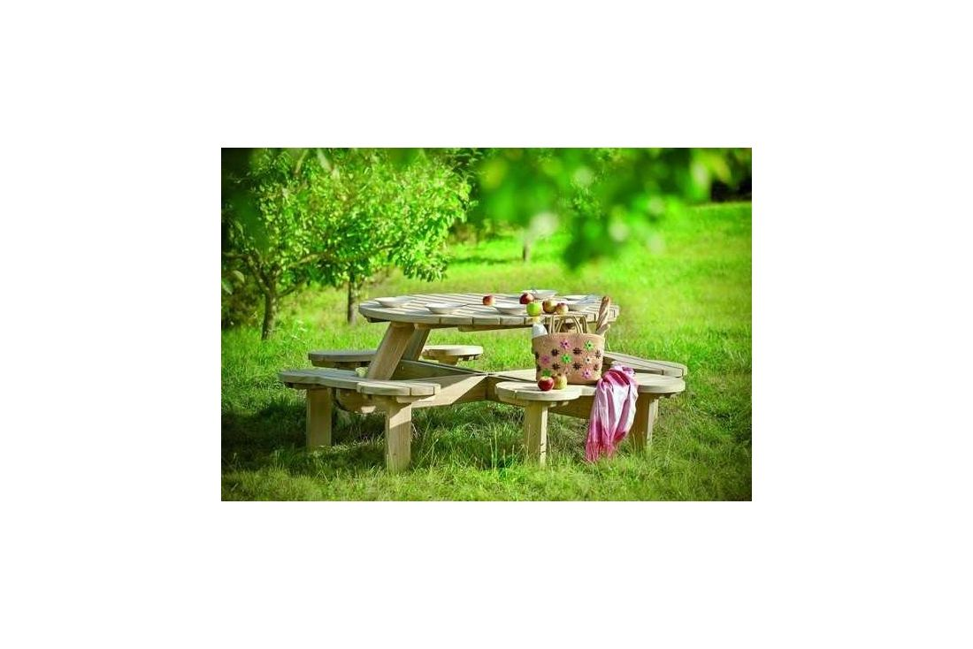 Orbit Round Picnic Table 150
