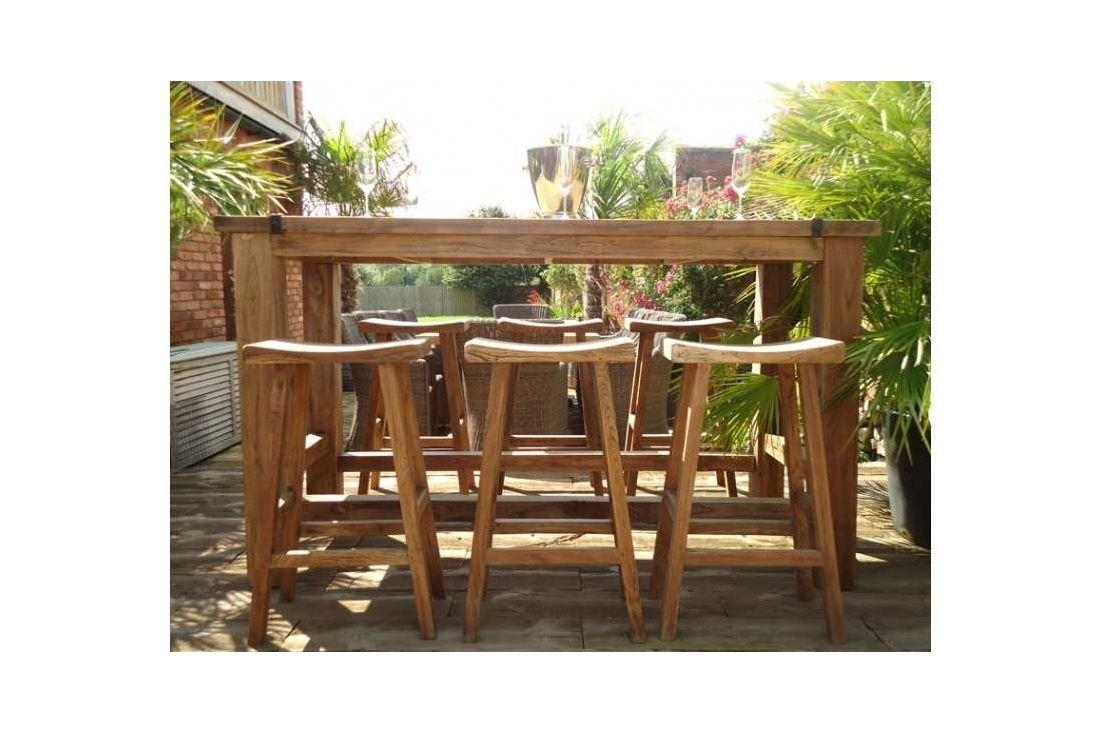 Reclaimed teak bar set
