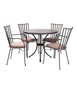 Carnglaze 4 Chair Dining Set