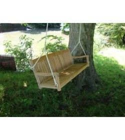 Teak swing bench 150cm