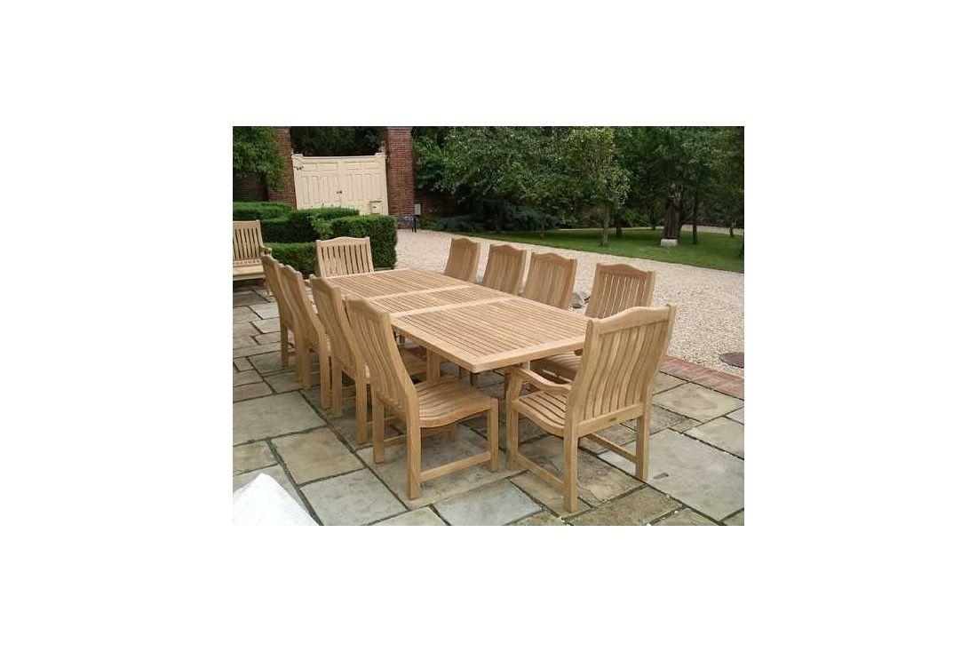 Malvern teak dining set 4