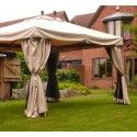 4m x 3m hardwood riveria gazebo with mosquito nets