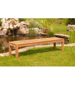 Teak Backless bench - 180cm FSC