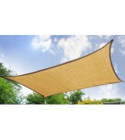 6mx5m Rectangle Sand Party Sail Shade