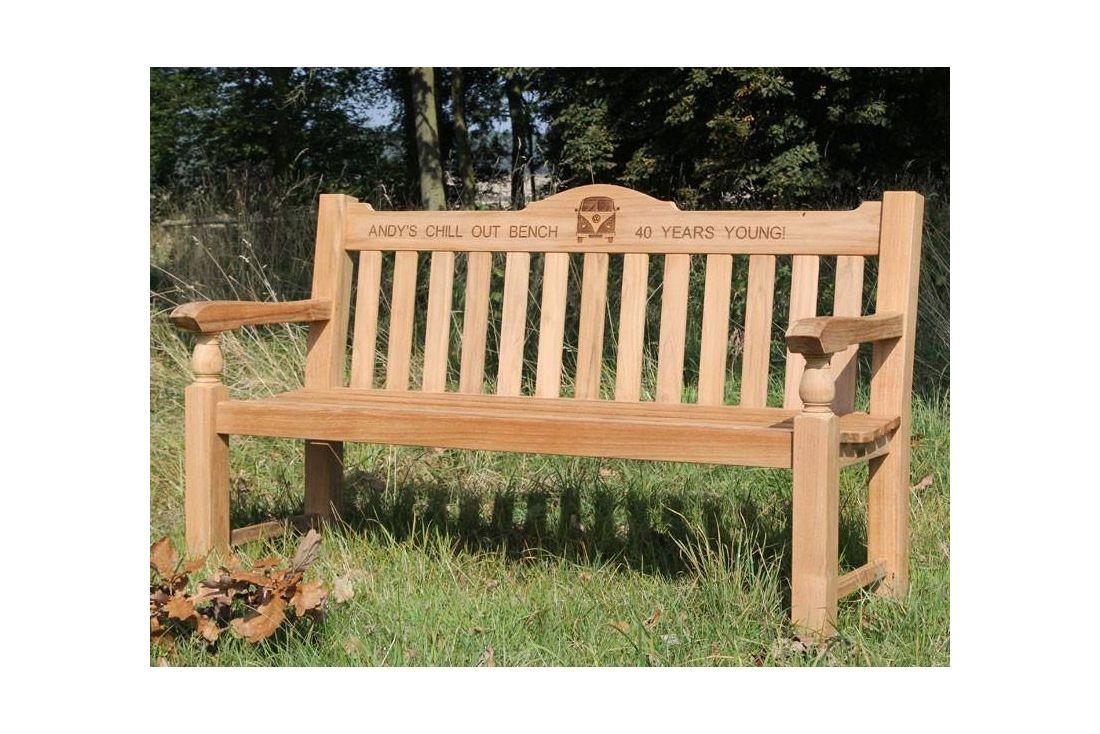 Teak Windsor Bench