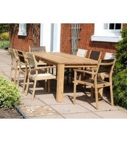 Mayfair FSC Certified Teak 8 Chair Dining Set