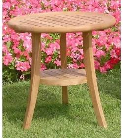 Half moon side table round
