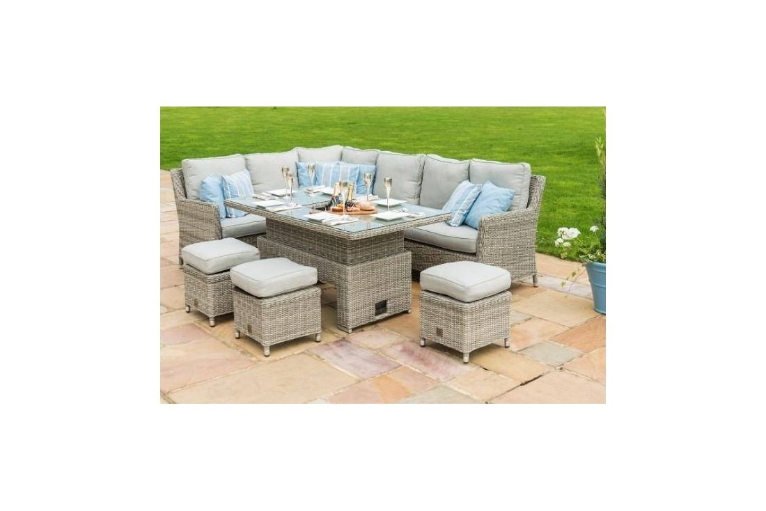OXFORD VENICE CORNER SOFA DINING SET WITH ICE BUCKET