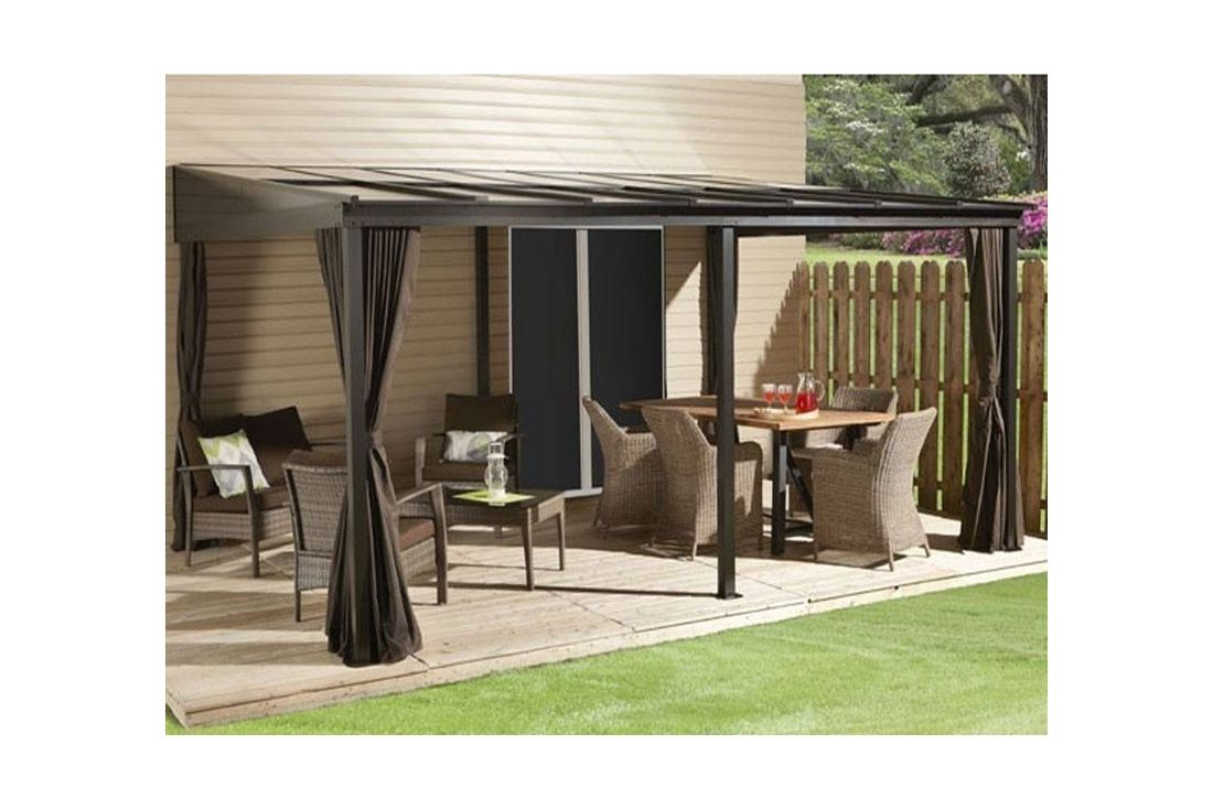 Four Seasons Wall Mounted Gazebo 3m X 4.8m