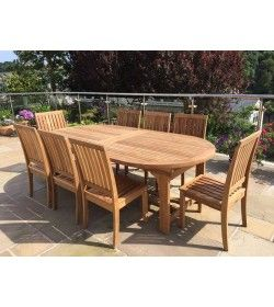 Winchester 8 Chair Chunky Extending Set