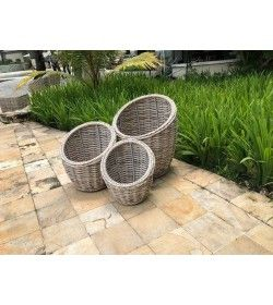 Fiji Flower Baskets - Set Of Three