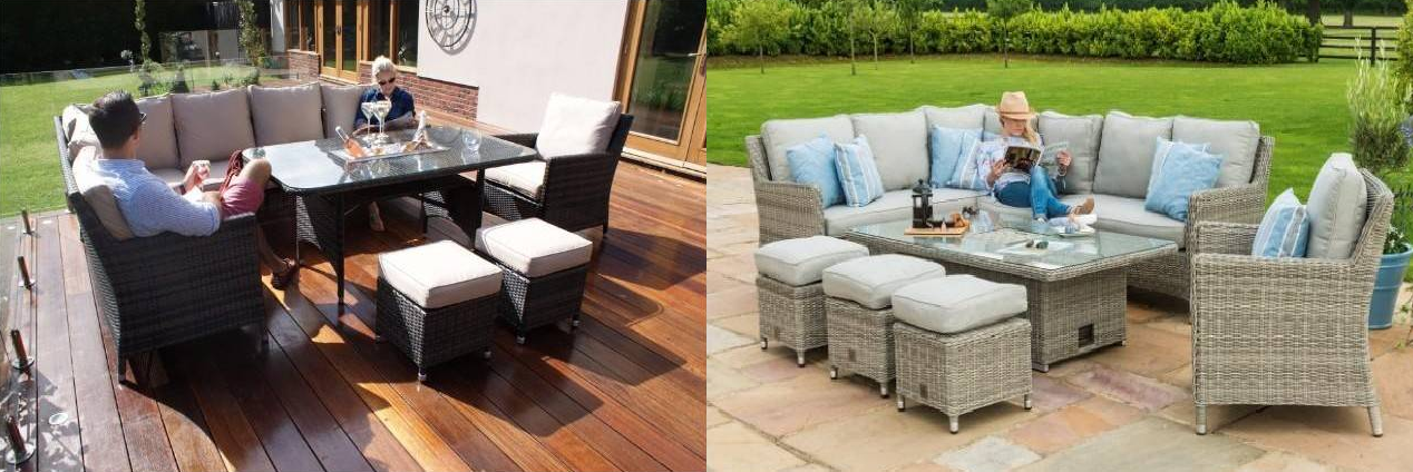 Outdoor furniture is very important in the UK where the garden is also considered a part of the living space.